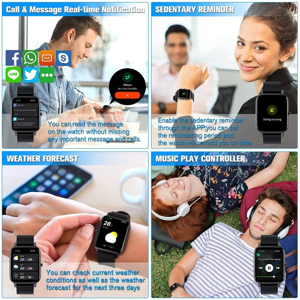 Smartwatch for men with SPO2